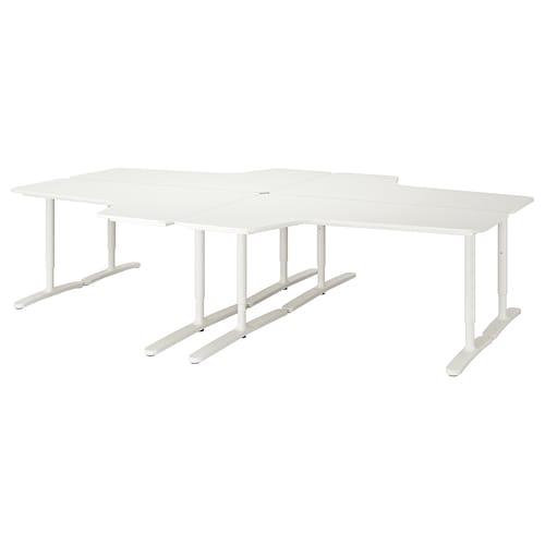 BEKANT combinación escritorio blanco 320 cm 220 cm 65 cm 85 cm 100 kg