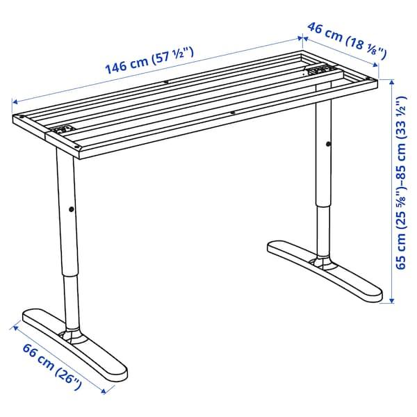 BEKANT Struc infer p/tabl, blanco, 160x80 cm