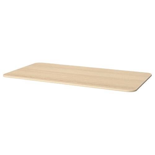 BEKANT tablero chapa roble tinte blanco 160 cm 80 cm 1.6 cm