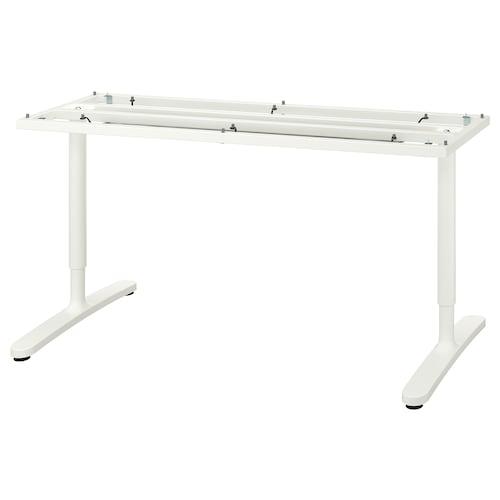 BEKANT struc infer p/tabl blanco 46 cm 146 cm 160 cm 80 cm 65 cm 85 cm 100 kg