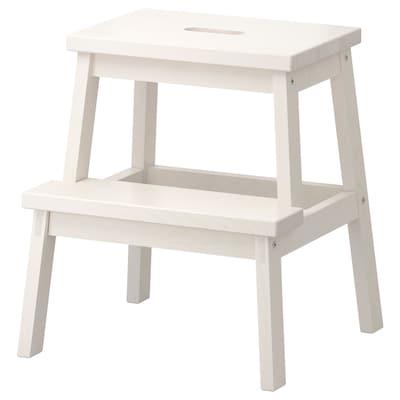 BEKVÄM Taburete escalón, blanco, 50 cm