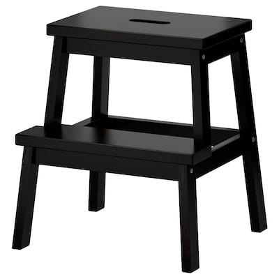 BEKVÄM Taburete escalón, negro, 50 cm