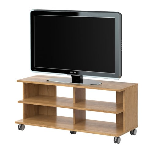 BENNO Mueble TV con ruedas  chapa roble  IKEA