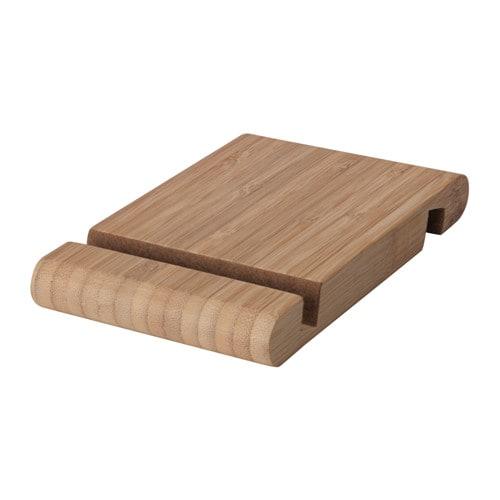 BERGENES - Soporte móvil/tableta, bambú