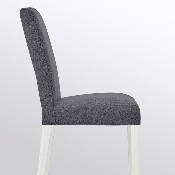 BERGMUND Silla, blanco/Gunnared gris