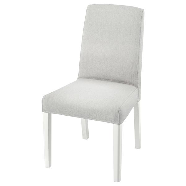 BERGMUND Silla, blanco/Orrsta gris claro