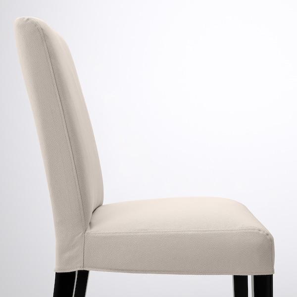 BERGMUND Silla, negro/Hallarp beige