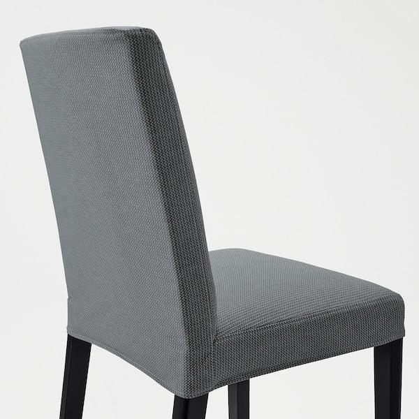 BERGMUND Silla, negro/Nykvarn gris