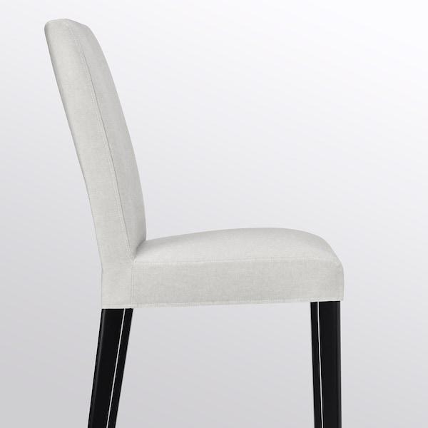 BERGMUND Silla, negro/Orrsta gris claro