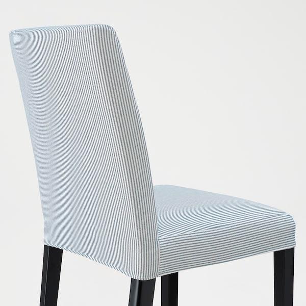 BERGMUND Silla, negro/Rommele azul oscuro/blanco