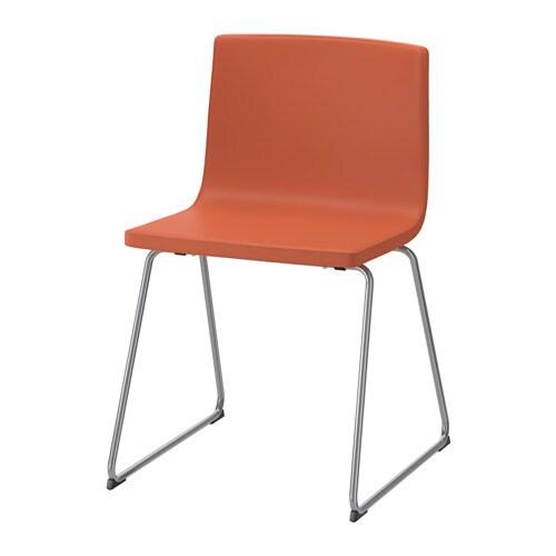 BERNHARD Silla, cromado, Kavat Mjuk naranja