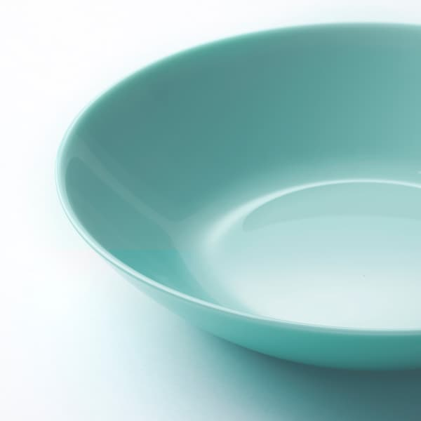 BESEGRA Plato hondo, turquesa claro, 20 cm