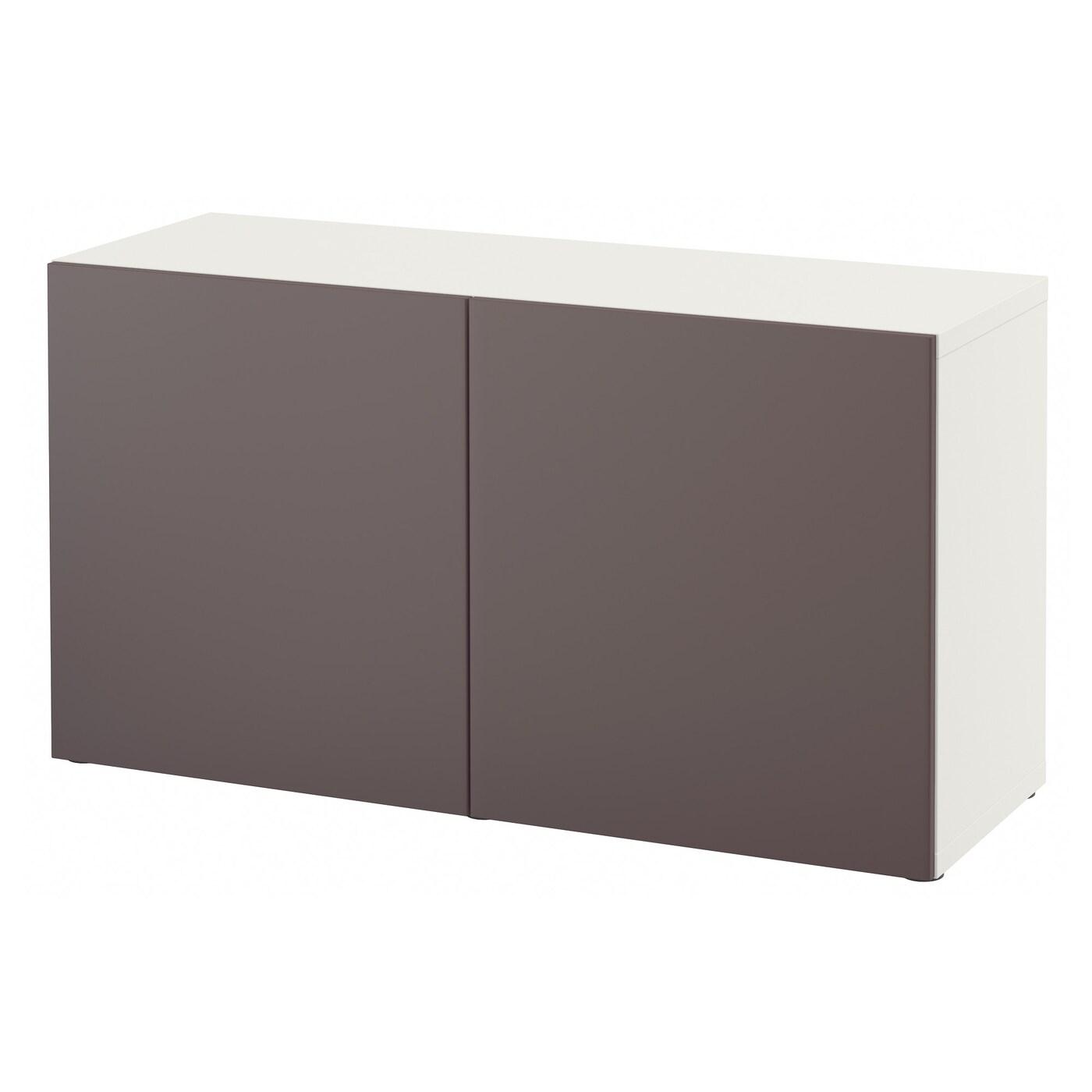 Best estanter a con puertas blanco valviken marr n oscuro 120 x 40 x 64 cm ikea - Estanterias besta ikea ...
