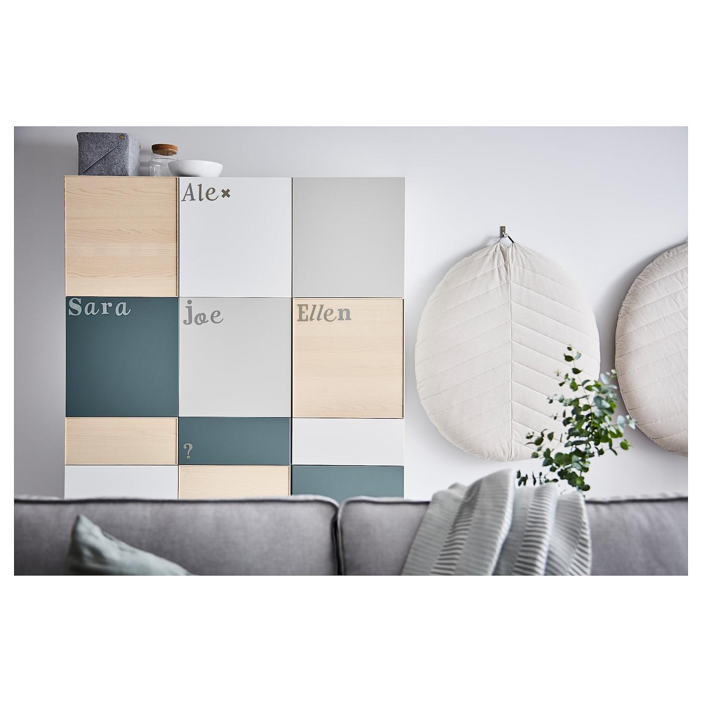 Bestå Mueble De Salón Con Almacenaje Blancogris Clarogris Turquesa