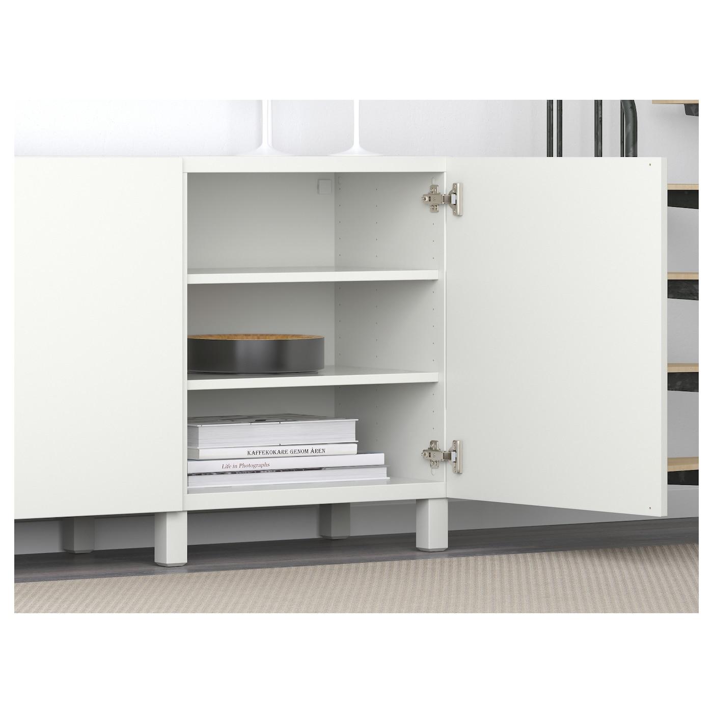 Bestå Mueble De Salón Con Almacenaje Lappviken Blanco 180 X 40 X 74