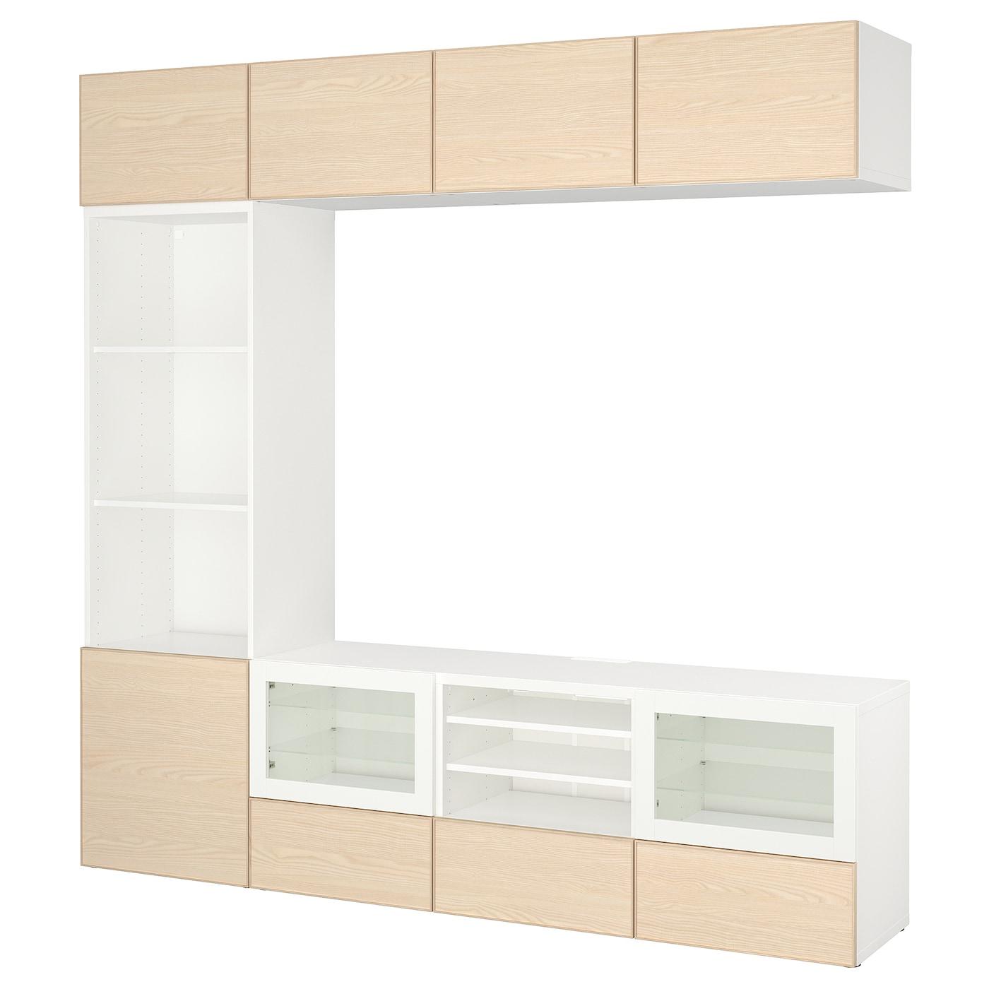 Best mueble tv con almacenaje blanco inviken chapa fresno for Muebles almacenaje ikea