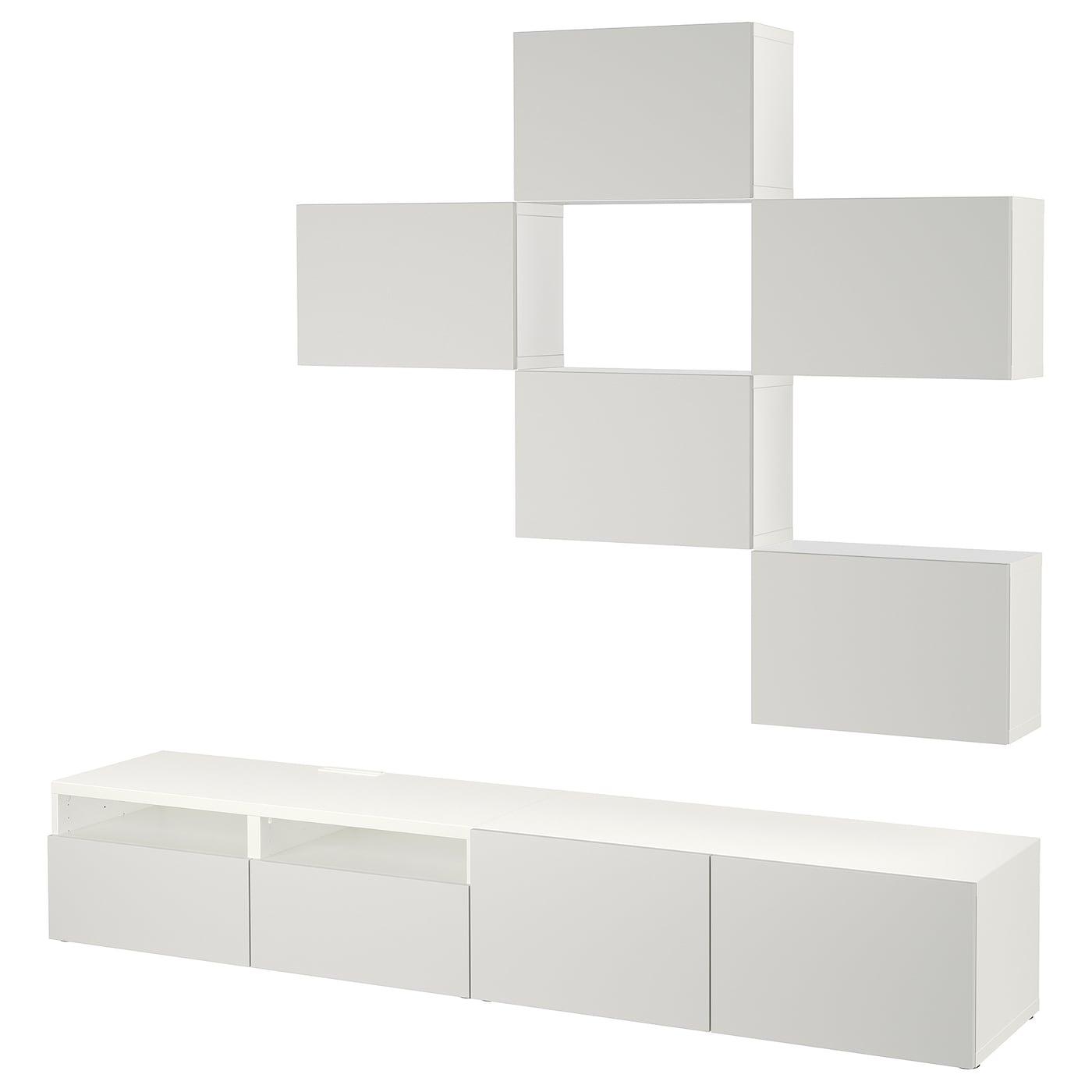 Best mueble tv con almacenaje blanco lappviken gris claro 240 x 20 40 x 204 cm ikea - Muebles almacenaje ikea ...