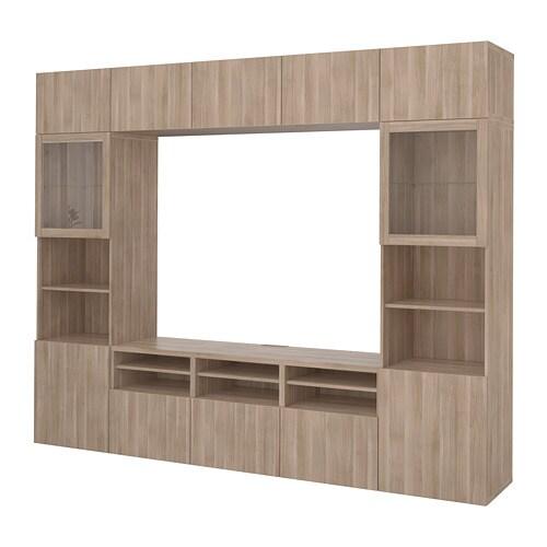 Best mueble tv con almacenaje lappviken sindvik efecto for Muebles almacenaje ikea