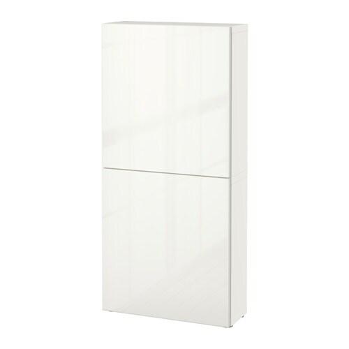 Best armario de pared con 2 puertas blanco selsviken for Armario 2 puertas ikea
