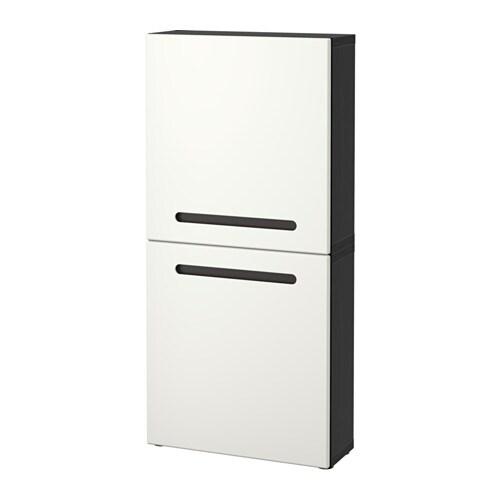 Best armario de pared con 2 puertas marviken negro for Armario 2 puertas ikea