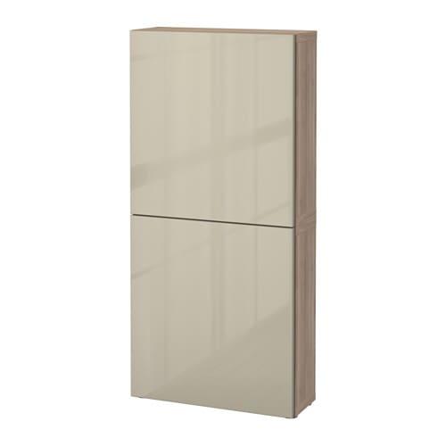 Best armario de pared con 2 puertas efecto nogal tinte for Armario 2 puertas ikea