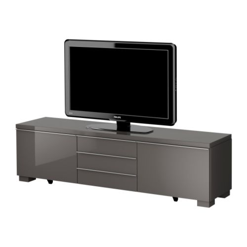 BESTÅ BURS Mueble TV  alto brillo gris  IKEA