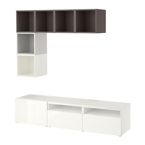 Best eket mueble tv con almacenaje armario blanco - Mueble tv blanco ikea ...