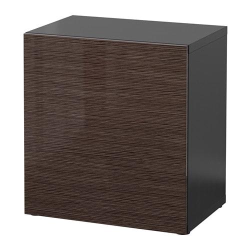 Best estante con puerta negro marr n selsviken alto - Besta combinaciones ...