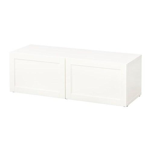Best estanter a con puertas hanviken blanco ikea for Estanterias con puertas ikea