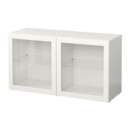 Best estanter a con puertas de vidrio sindvik blanco ikea for Estanterias con puertas ikea