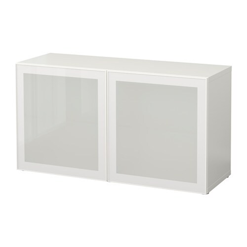 Best estanter a con puertas de vidrio blanco glassvik for Estanterias con puertas ikea