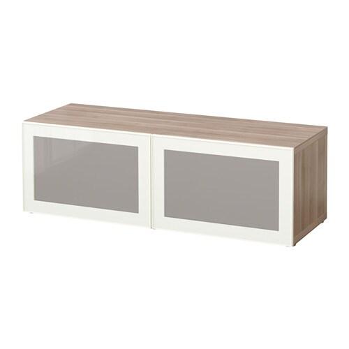 Best estanter a con puertas de vidrio efecto nogal - Estanterias con puertas correderas ...