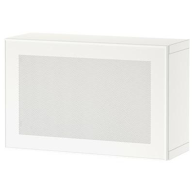BESTÅ Estantería de cubos, blanco/Mörtviken blanco, 60x22x38 cm
