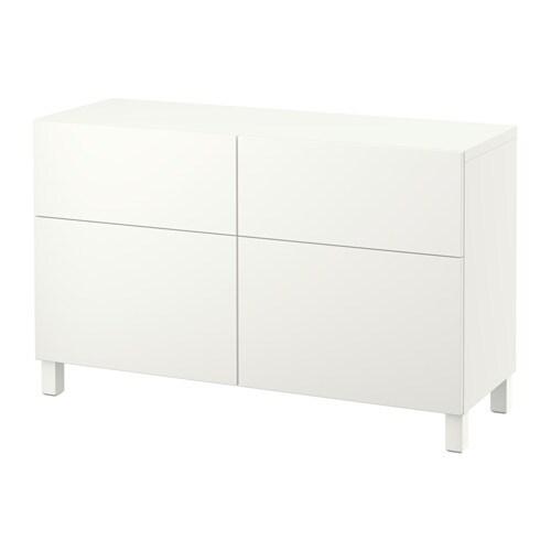 Best mueble de sal n con almacenaje lappviken blanco for Mueble salon blanco ikea