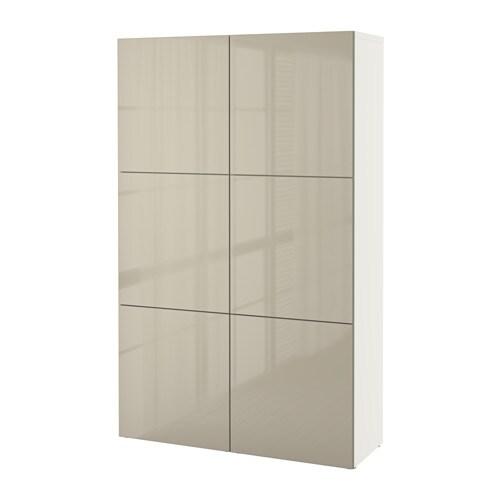 Best mueble de sal n con almacenaje blanco selsviken alto brillo beige ikea - Muebles para almacenaje ...