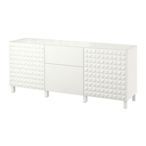 Best mueble de sal n con almacenaje djupviken lappviken for Mueble salon blanco ikea