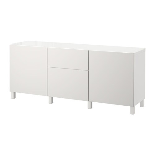 Best mueble de sal n con almacenaje blanco lappviken for Mueble salon blanco ikea