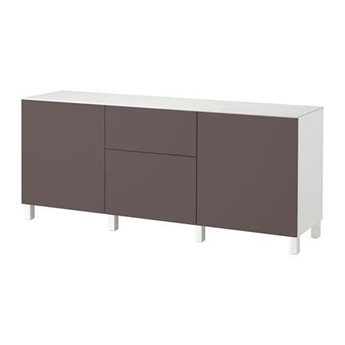 Best mueble de sal n con almacenaje blanco valviken for Mueble ikea salon