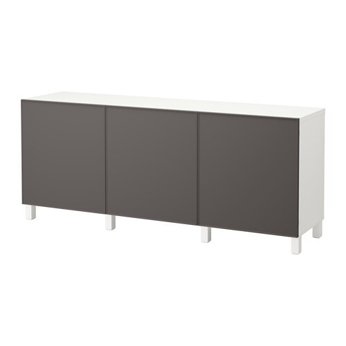 Best mueble de sal n con almacenaje blanco grundsviken - Mueble salon gris ...