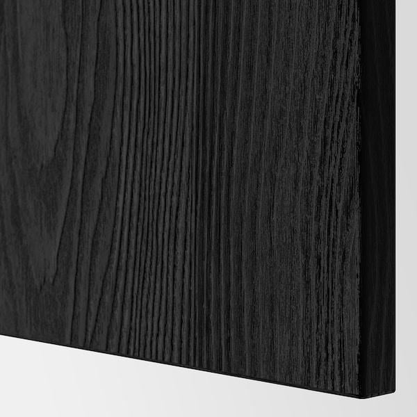 BESTÅ Mueble salón, negro-marrón/Timmerviken/Stubbarp negro, 120x42x74 cm