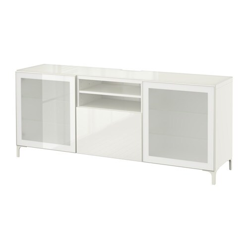 Best mueble tv blanco selsviken alto brillo for Envejecer mueble blanco ikea