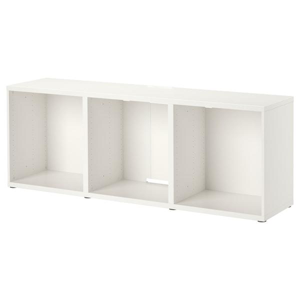 BESTÅ Mueble TV, blanco, 180x40x64 cm