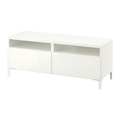 Best mueble tv cajones blanco selsviken alto brillo for Mueble de cajones ikea