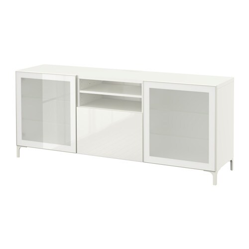 Best Mueble Tv Cajones Blanco Selsviken Alto Brillo