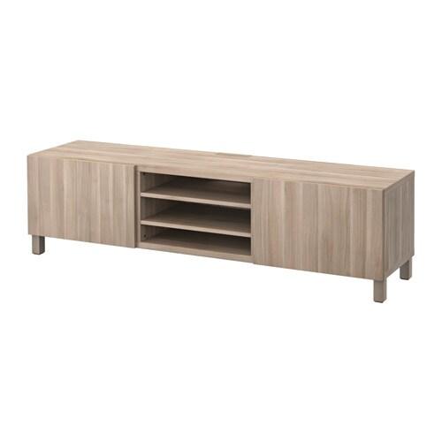 Best mueble tv cajones lappviken efecto nogal tinte gris riel para caj n con cierre suave ikea - Ikea mueble cajones ...