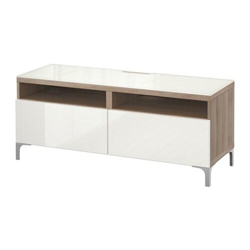 Muebles De Baño Gris Alto Brillo: para cajón con cierre suave, efecto nogal tinte gris/Selsviken alto