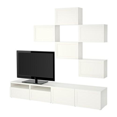 Best mueble tv combinaci n hanviken blanco riel p caj n apetura presi n ikea - Mueble blanco ikea ...