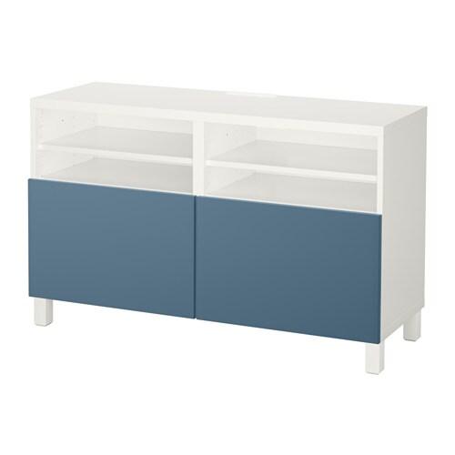 Best mueble tv con almacenaje blanco valviken azul for Muebles almacenaje ikea