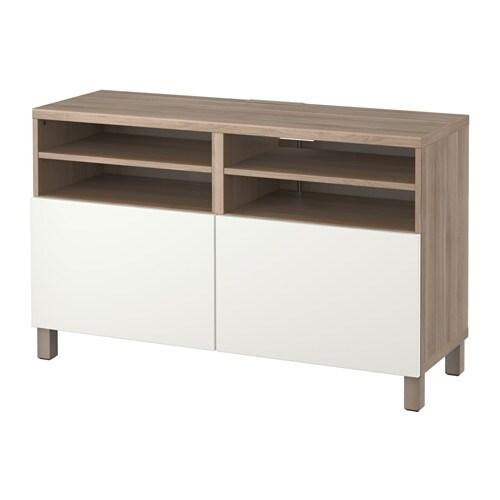 Best mueble tv con almacenaje efecto nogal tinte gris lappviken blanco ikea - Muebles almacenaje ikea ...