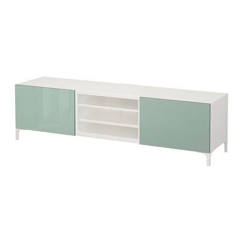 Best mueble tv con almacenaje blanco selsviken riel p for Muebles almacenaje ikea